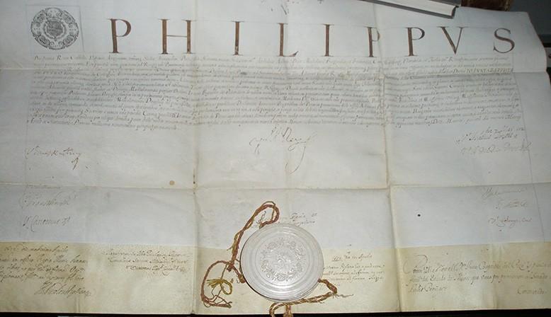 Documento de Felipe IV del Siglo XVI